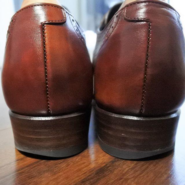 REGAL(リーガル)のシェットランドフォックス ウイングチップ 5.5 ダークブラウン メンズの靴/シューズ(ドレス/ビジネス)の商品写真