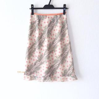 ダブルスタンダードクロージング(DOUBLE STANDARD CLOTHING)のペイズリー柄スカート                          583.(ひざ丈スカート)