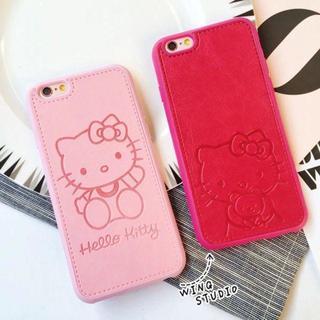 ハローキティ ピンク レザー ケース(iPhoneケース)