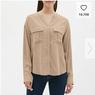ジーユー(GU)のGU ワークスキッパーシャツ XL(シャツ/ブラウス(長袖/七分))