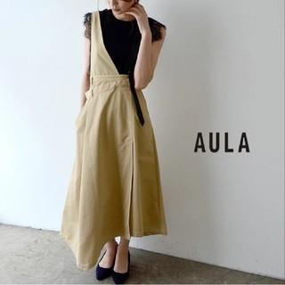 アウラアイラ(AULA AILA)のAULA ジャンパースカート FRAY I.D Ameri VINTAGE(ひざ丈ワンピース)