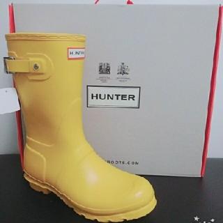 ハンター(HUNTER)の25cm💛HANTER【新品】ハンターレインブーツ黄色/長靴💛(レインブーツ/長靴)