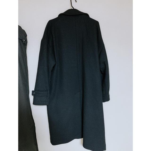HARE(ハレ)のHARE オーバーステンカラーコート ブラック メンズのジャケット/アウター(ステンカラーコート)の商品写真
