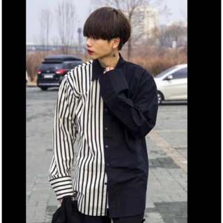ハレ(HARE)の定価7000円 韓国ブランド ストライプシャツ(シャツ)