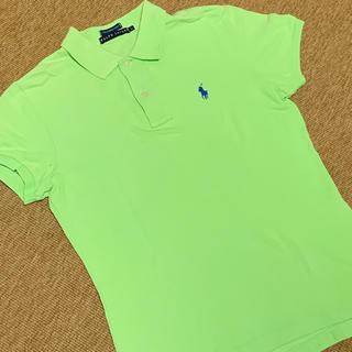 RALPH   LAUREN  黄緑半袖ポロシャツ   サイズL