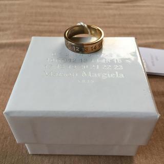 マルタンマルジェラ(Maison Martin Margiela)の18AW新品M マルジェラ ナンバリング ロゴ ツートーン リング(リング(指輪))