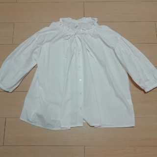 シマムラ(しまむら)の新品 ホワイトブラウス(シャツ/ブラウス(長袖/七分))