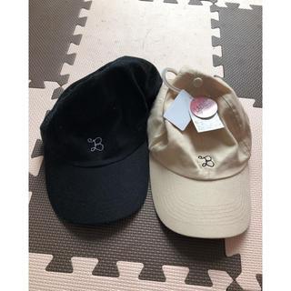 シマムラ(しまむら)の一点新品!しまむら♡帽子2点セット♡ブラック&ベージュ(キャップ)