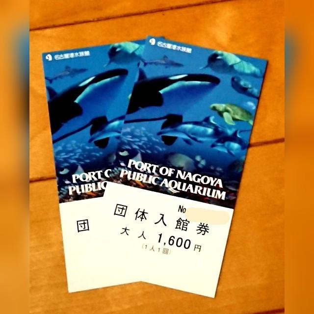 2枚セット/名古屋港水族館 チケット チケットの施設利用券(水族館)の商品写真