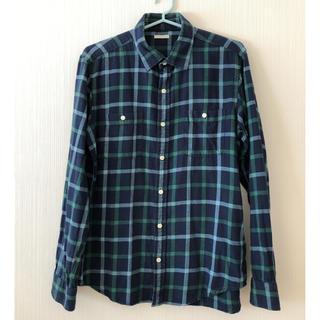 ジーユー(GU)のGU メンズ チェックシャツ Lサイズ(シャツ)