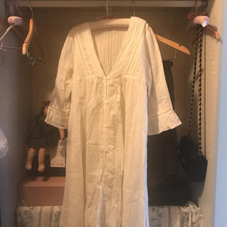 vintage cotton onepiece.(ひざ丈ワンピース)