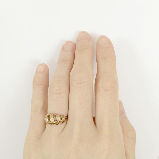 訳あり! K18 18金リング 推定10号  レディースのアクセサリー(リング(指輪))の商品写真