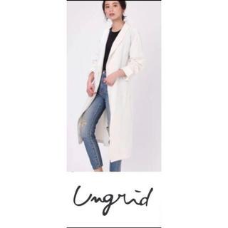 アングリッド(Ungrid)のUngrid アングリッドルーズガウンコート麻混 綿アイボリー白スプリングコート(スプリングコート)