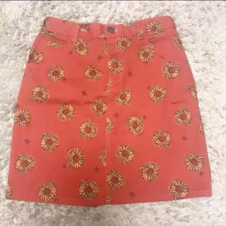チチカカ(titicaca)のひまわり柄台形スカート(ミニスカート)