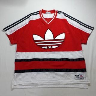 アディダス(adidas)のadidas デサント アディダス デカロゴ 半袖 メッシュ Tシャツ 90s(Tシャツ/カットソー(半袖/袖なし))