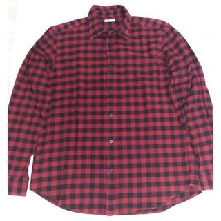 ジーユー(GU)のネルシャツ 赤 チェック GU(シャツ)