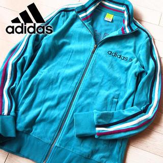 アディダス(adidas)の美品 Mサイズ アディダス メンズ ジャージ/ジャケット グリーン系(ジャージ)