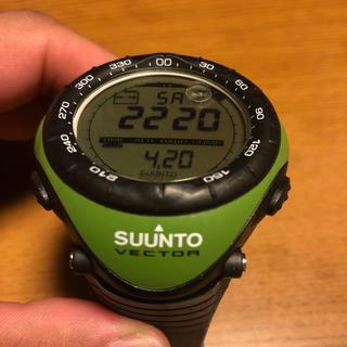 スント(SUUNTO)のSUUNTO VECTER グリーン(腕時計(デジタル))