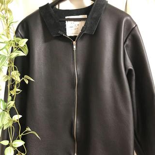 サンシー(SUNSEA)のcamiel fortgens レザージャケット 吾亦紅 初売り限定 極美品(レザージャケット)