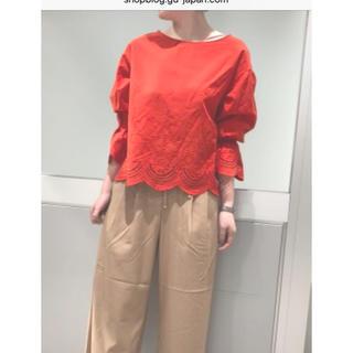 ジーユー(GU)のGUスカラップレースシャツ(シャツ/ブラウス(長袖/七分))