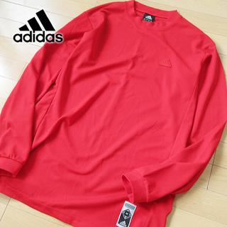 アディダス(adidas)の超美品 XOサイズ アディダス 長袖カットソー レッド(Tシャツ/カットソー(七分/長袖))