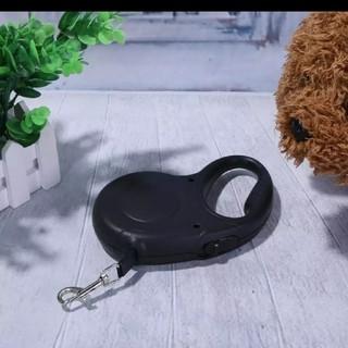 リード ロープ 紐 綱 リーシュ 自動巻き取り式 ペット 犬 3m 黒 赤 青(犬)