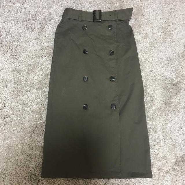 GU(ジーユー)の値下げ!GU トレンチナローミディスカート  レディースのスカート(ひざ丈スカート)の商品写真