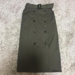 ジーユー(GU)のGU トレンチナローミディスカート(ひざ丈スカート)