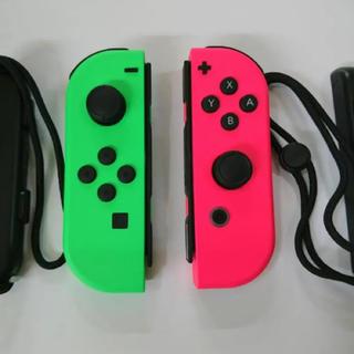 ニンテンドースイッチ(Nintendo Switch)のJoy-Con (L) ネオングリーン/ (R) ネオンピンク(家庭用ゲーム本体)