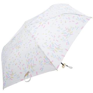 スタディオクリップ(STUDIO CLIP)の新品 Nifty Colors 折りたたみ傘 紙ふぶき オフホワイト(傘)