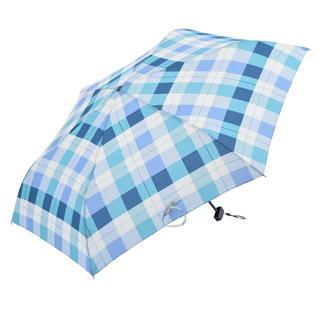 スタディオクリップ(STUDIO CLIP)の新品 Nifty Colors 折りたたみ傘 ブロックチェック ブルー(傘)