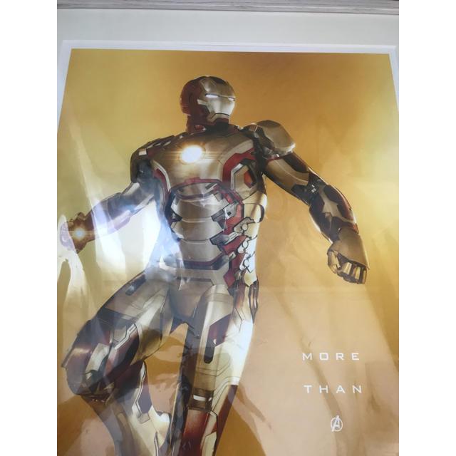 MARVEL(マーベル)のマーベル展限定 marvel展 アイアンマン 特大パネル 額装付き エンタメ/ホビーのフィギュア(アメコミ)の商品写真