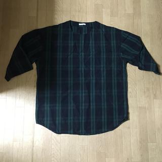 ジーユー(GU)のGU ビッグシルエット プルオーバーシャツ ブラックウォッチ(シャツ)