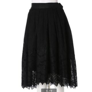 アンドクチュール(And Couture)のアンドクチュール メッシュフラワーレーススカート(ひざ丈スカート)