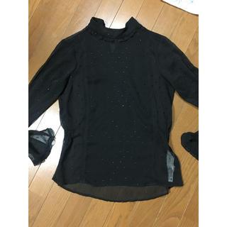 ザラ(ZARA)のZARA ブラウス ブラック Sサイズ 美品 シフォン 長袖(シャツ/ブラウス(長袖/七分))