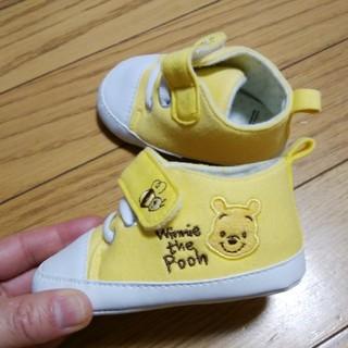 ディズニー(Disney)の11.5☆美品☆くまのプーさん☆ベビー用シューズ☆ファーストシューズ☆黄色(スニーカー)