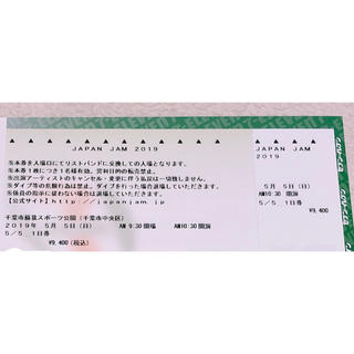 JAPAN  JAM  5/5 1枚(音楽フェス)