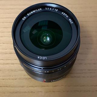 パナソニック(Panasonic)の【むーらいおん様専用】LEICA 12mm F1.4 ライカ Panasonic(レンズ(単焦点))