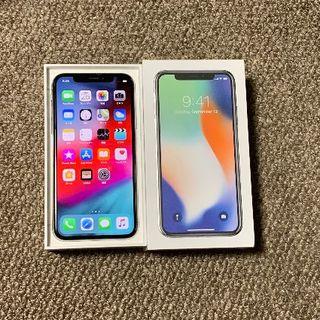 アップル(Apple)のiPhoneX 256GB ソフトバンク 液晶無傷美品 電池97% 安心の判定○(スマートフォン本体)