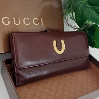 6da957f9122c グッチ(Gucci)の正規 GUCCI オールドグッチ レザー 長財布 ブラウン レディース メンズ(