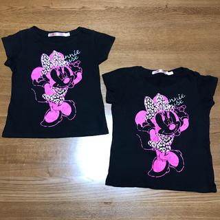ユニクロ(UNIQLO)の100cm ミニーちゃん Tシャツ 2枚セット(Tシャツ/カットソー)
