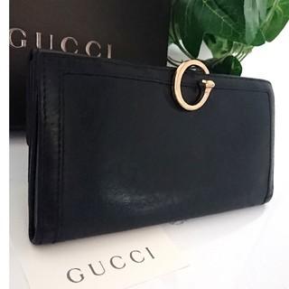 efd00d44239e グッチ(Gucci)の正規 GUCCI オールドグッチ レザー 長財布 ブラック レディース メンズ(
