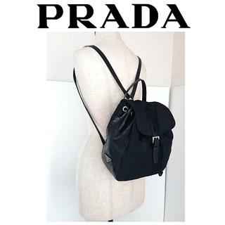 4e5a328cd19b プラダ(PRADA)の美品 プラダ クロコ レザー ナイロン リュック バッグ 黒 レディース メンズ