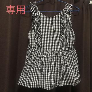 ザラ(ZARA)の☆ZARA☆ザラ ノースリーブトップス ギンガムチェック XS(シャツ/ブラウス(半袖/袖なし))