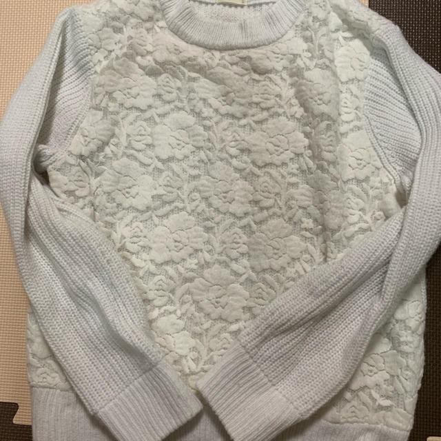 GU(ジーユー)のGU ニット 白 レディースのトップス(ニット/セーター)の商品写真