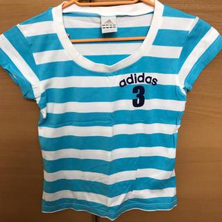 アディダス(adidas)のアディダス Tシャツ ボーダー(Tシャツ(半袖/袖なし))