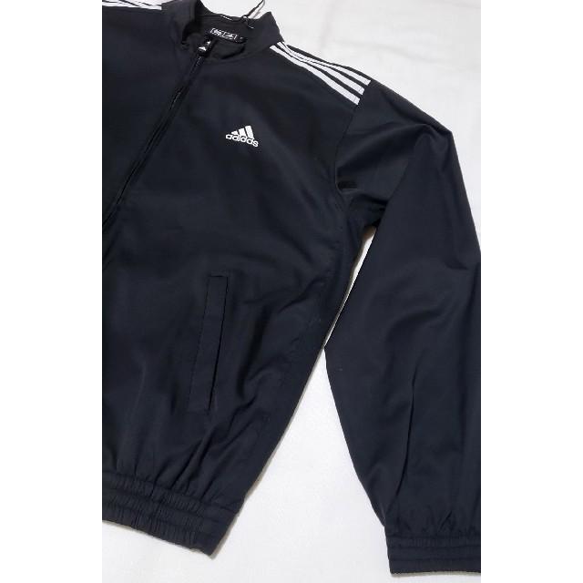 adidas(アディダス)のadidas アディダス ゴルフ 長袖薄手ブルゾン 黒 美品 メンズL スポーツ/アウトドアのゴルフ(ウエア)の商品写真