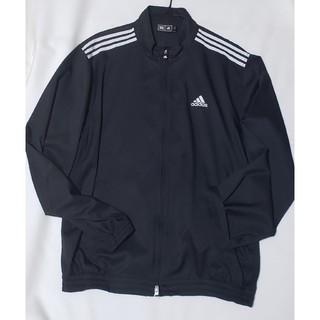 アディダス(adidas)のadidas アディダス ゴルフ 長袖薄手ブルゾン 黒 美品 メンズL(ウエア)