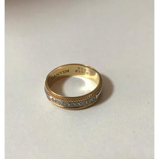 ランバン(LANVIN)のLANVIN K18 Pt900 18金×プラチナ コンビ リング 指輪(リング(指輪))