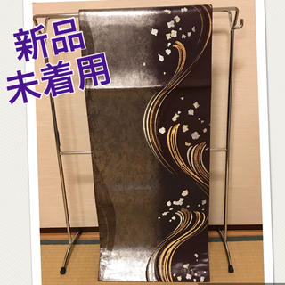 ニシジン(西陣)の☆新品未着用☆正絹 袋帯 波 引箔 銀色 金糸銀糸 六通 (帯)